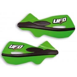 Handbary, osłony dłoni, listki UFO PLAST PATROL ZIELONE KAWASAKI KX KXF KLX KLR