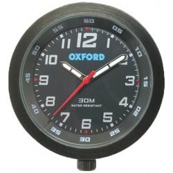 Analogowy zegarek motocyklowy na kierownice Oxford CZARNY