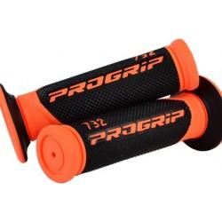 Manetki gumy raczki kierownicy dwuskładnikowe PROGRIP PG732 CROSS POMARAŃCZOWE FLUO
