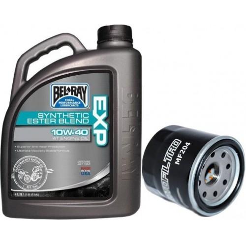 Zestaw olej BEL-RAY EXP 10W40 4 l filtr oleju MOTOFILTRO GRATIS !!!