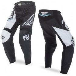 Spodnie cross enduro off-road dziecięce FLY F-16 BLACK-WHITE