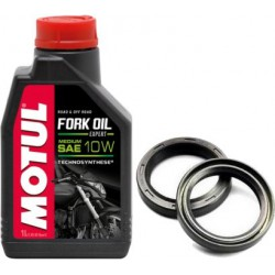 Zestaw olej do lag MOTUL 10W uszczelniacze ATHENA KAWASAKI ZZR 1100 90-01r.