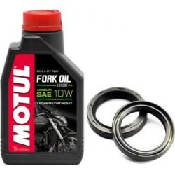 Zestaw olej do lag MOTUL 10W uszczelniacze HUSQVARNA WR 125 250 300 09-13r.