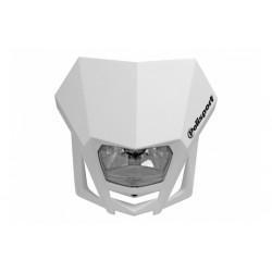 Uniwersalny reflektor przedni lampa owiewka Polisport LMX BIAŁY