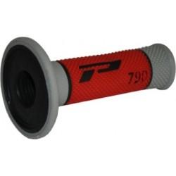 Manetki gumy raczki kierownicy PROGRIP PG790 CROSS CZERWONE