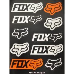 Zestaw naklejek motocyklowych na prezent FOX Limited Edition 10 szt