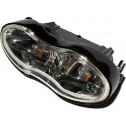 Lampa przednia podwójna czarna, reflektor na przód H3