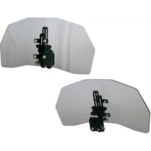 Deflektor motocyklowy szyba owiewka z regulacją kąta i wysokości EWOLUTION DYMIONY DARKOJAK