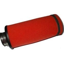 Filtr powietrza gąbkowy owalny uniwersalny czerwony 35 mm
