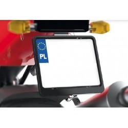 Ramka tablicy rejestracyjnej motocyklowa CZARNA