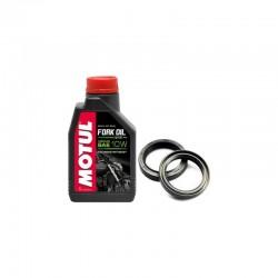 Zestaw olej do lag MOTUL 10W uszczelniacze ATHENA KAWASAKI KX 125,250,500 88-96r.