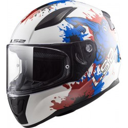 KASK DZIECIĘCY LS2 FF353J RAPID MINI MONSTER WHITE BLUE