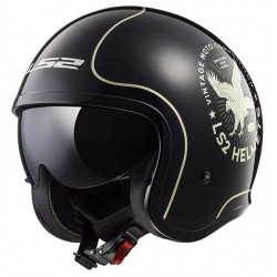Kask otwarty bobber LS2 OF599 SPITFIRE FLIER BLACK GOLD
