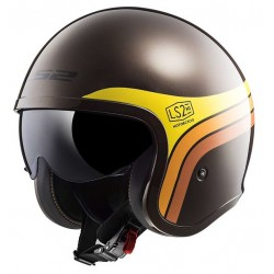 Kask otwarty bobber LS2 OF599 SPITFIRE SUNRISE BROWN ORANGE