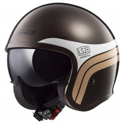 Kask otwarty bobber LS2 OF599 SPITFIRE SUNRISE BROWN WHITE