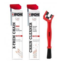 Ipone Road Chain Care Zestaw do smarowania i czyszczenia łańcucha