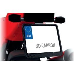 Ramka tablicy rejestracyjnej motocyklowa CARBON 3D