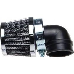 Filtr powietrza stożkowy uniwersalny 38 mm NISKI CHROM CHROMOWANY