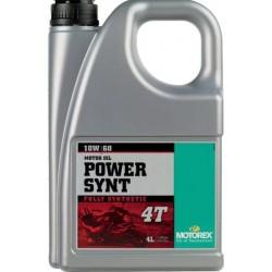Olej silnikowy syntetyczny MOTOREX POWER SYNT 4T 10W60 4 LITRY