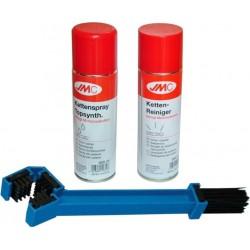 Zestaw do czyszczenia łańcucha szczotka+zmywacz+smar JMC