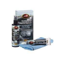 AUTOSOL Headlight Polish & Protection Kit zestaw do polerowania i czyszczenia kloszy