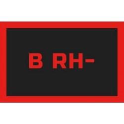 Odznaka na rzep, naszywka z grupa krwi B RH -