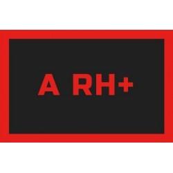 Odznaka na rzep, naszywka z grupa krwi A RH +