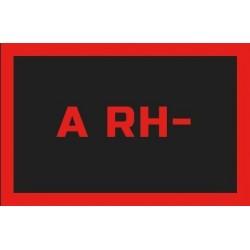 Odznaka na rzep, naszywka z grupa krwi A RH-