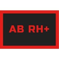 Odznaka na rzep, naszywka z grupa krwi AB RH+