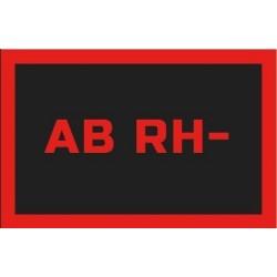 Odznaka na rzep, naszywka z grupa krwi AB RH-