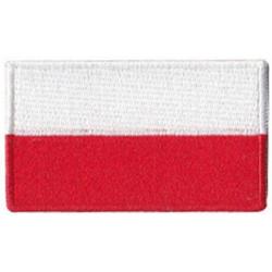Odznaka na rzep, naszywka FLAGA POLSKI