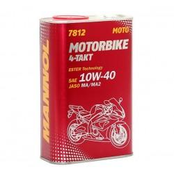 Olej silnikowy półsyntetyczny MANNOL 4T MOTORBIKE 10W40 1L ESTER + MA2 7812