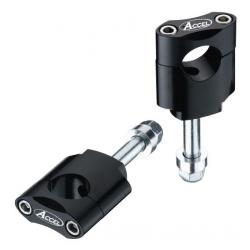 ACCEL mocowanie, podwyższenie kierownicy 22,2 mm śruba M12 SILVER