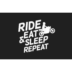 Odznaka na rzep, naszywka RIDE, EAT, SLEEP, REPEAT