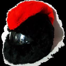 Nakładka ozdoba czapka na kask, czapkokask IROKEZ