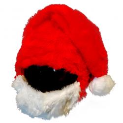 Nakładka ozdoba czapka na kask, czapkokask CZAPKA MIKOŁAJA
