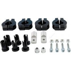 Plastikowe mocowania handbarów, osłon dłoni na kierownice 22mm i 28mm RACETECH