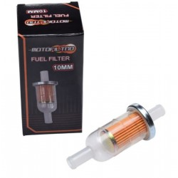Filtr paliwa na przewód paliwowy 10mm HONDA YAMAHA SUZUKI YAMAHA DUCATI