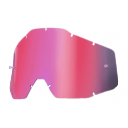 SZYBKA DO GOGLI 100% RACECRAFT/ACCURI/STRATA PINK MIRROR KOLOR RÓŻOWE LUSTRO Z ANTI FOG
