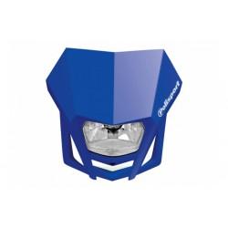Uniwersalny reflektor przedni lampa owiewka Polisport LMX NIEBIESKI