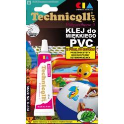 TECHNICQLL Klej do miękkiego PVC poliuretanu tkanin powlekanych 20ml