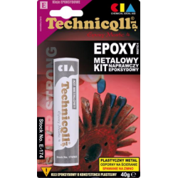 TECHNICQLL Klej kit epoksydowy do metalu uzupełnia ubytki 40g