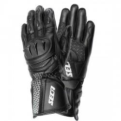 SECA XENA III BLACK damskie długie sportowe rękawice motocyklowe
