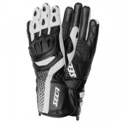SECA XENA III BLACK WHITE damskie długie sportowe rękawice motocyklowe