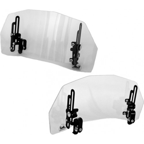 Deflektor motocyklowy szyba owiewka z regulacją kąta i wysokości EWOLUTION DUO DARKOJAK