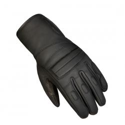 Rękawice motocyklowe długie damskie skórzane OZONE ROOKIE czarne