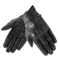 Rękawice motocyklowe męskie krótkie skórzane OZONE STICK CUSTOM II BLACK