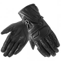 Rękawice motocyklowe męskie długie skórzane OZONE TOURING II BLACK