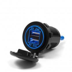 Motocyklowe gniazdo USB z podświetleniem - MUS09