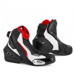 SHIMA SX-6 WHITE RED BLACK męskie krótkie sportowe buty motocyklowe